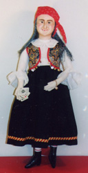 Gypsy Magda in costume